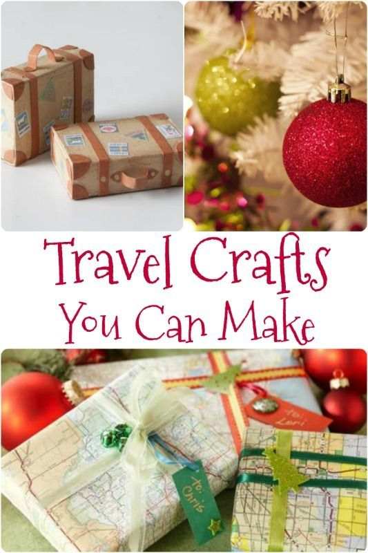 Whether it's for a gift or to decorate your home...or for a party favor, these travel crafts are very simple to make!