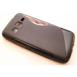 Galaxy Express 2 musta silikonisuojus.