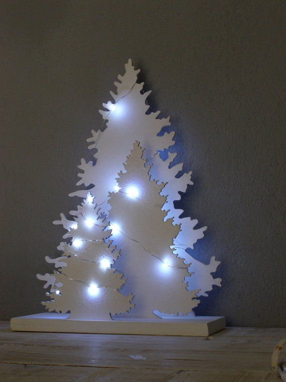 Christmas Tree With Led Lights 43cm High Home Decoration For Etsy Paper Christmas Decorations Led Christmas Tree Lights Led Christmas Tree