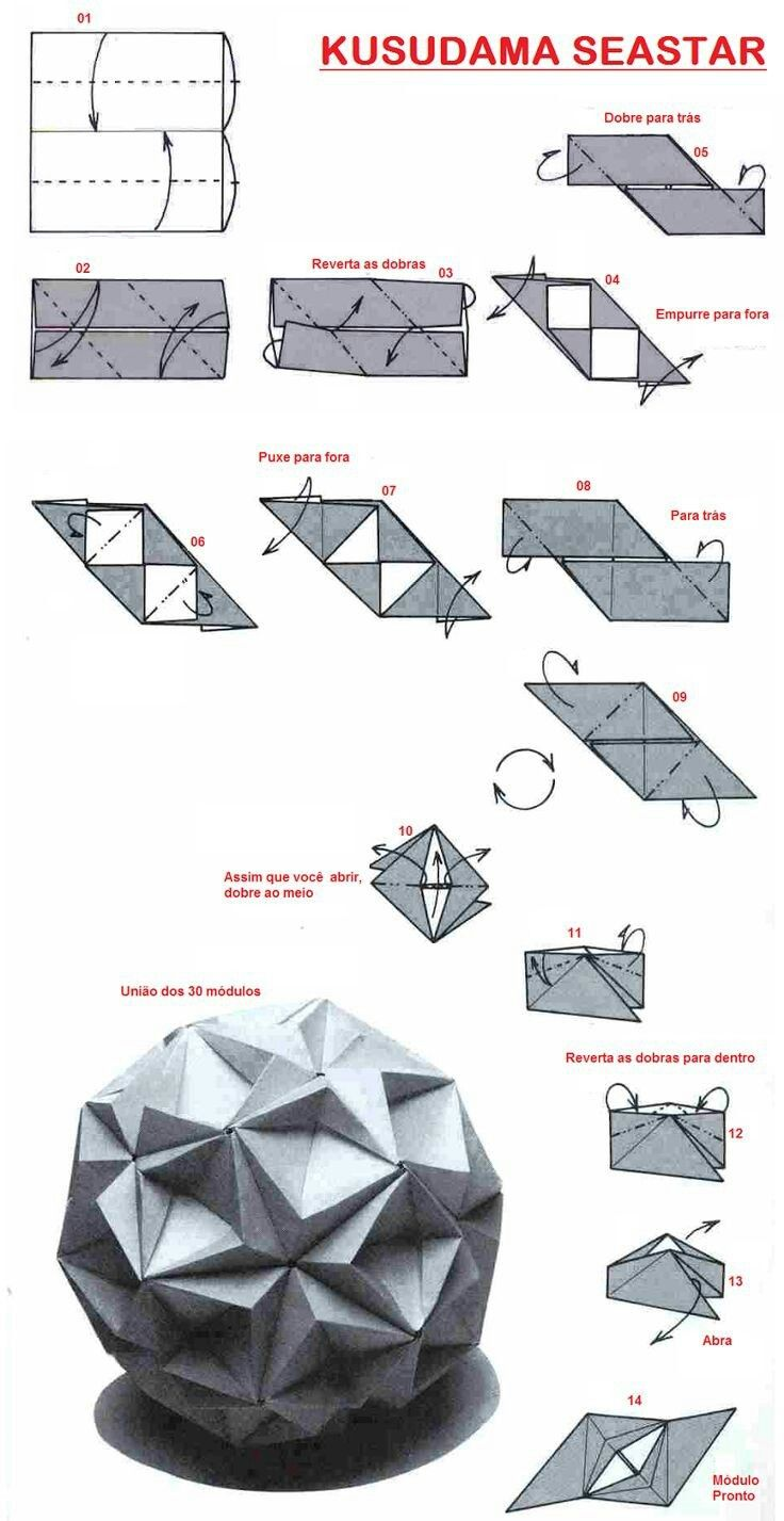 origami paper ball instructions