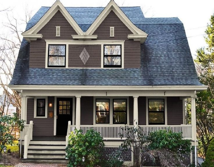 Dutch Colonial house after painting: new exterior paint colors and gable vents