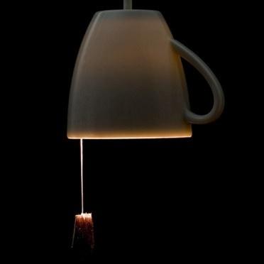 tea cup + tea bag lampTeas Cups, Trav'Lin Lights, Teas Lights, Tea Cups, Teas Bags, Cups Lights, Teacups, Cups Lamps, Tea Lights