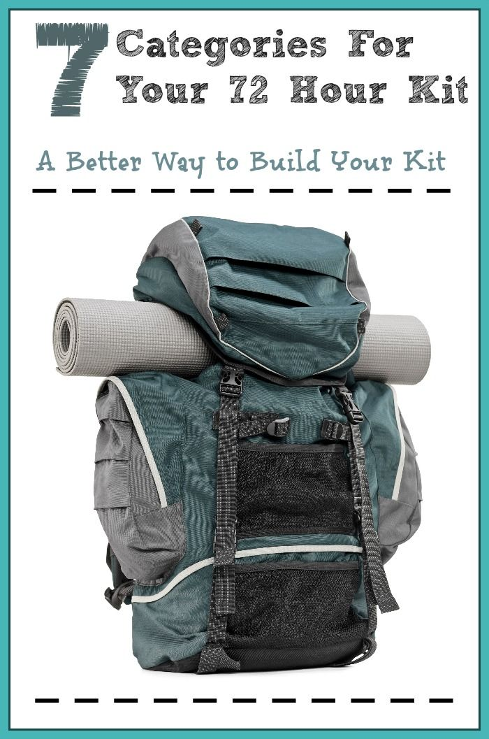 Printable 72 hour kit checklist | 72 hour kit ideas | Seven Essential Categories for Your Family's 72 Hour Kit | DIY 72 Hour Kit | Emergency Preparedness