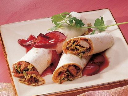 Tacos de Pollo Mou Shu - Que Rica Vida