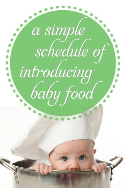 A+Simple+Schedule+of+Introducing+Baby+Food+-+Month+by+Month,+Food+by+Food.+Excellent+Reference!