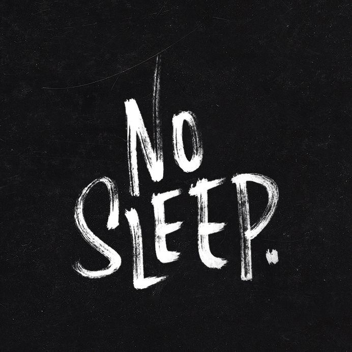 No Sleep. — 100 Days Project by Knucklebones Design Co. — Designspiration