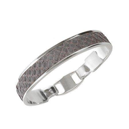 Union Bracelet Light Grey Snake - De naam Bandhu staat in het oude Sanskriet voor vriend en vriendschap en union betekent eenwording. Deze armband is het perfecte symbool van een mooie gedeelde herinnering of een bijzondere vriendschap. Elke armband wordt met de hand ingelegd met lee...