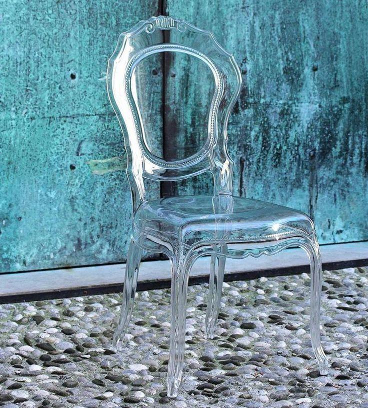 Moderne Barok Stoel in Transparant Modern Baroque Chair in Transparent