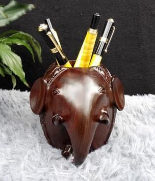 Good elephant wood ebony carved LOGO sample processing custom pen pen