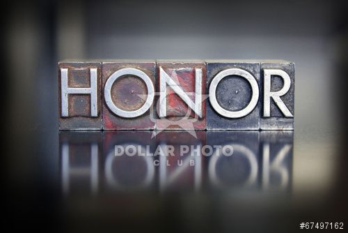 http://www.dollarphotoclub.com/stock-photo/Honor Letterpress/67497162 Dollar Photo Club millions of stock images for $1 each