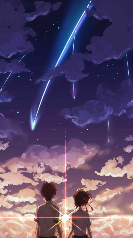 Your Name Fan Art Wallpaper Pemandangan Anime Anime Roman Anime Estetika
