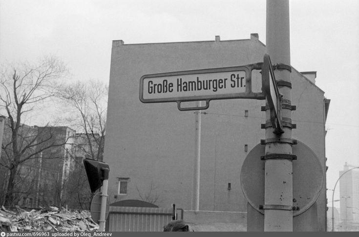 1984 Ost Berlin. Große Hamburger Straße Ecke Ora…