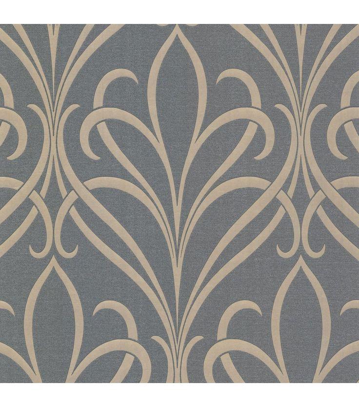 Lalique Silver Nouveau Damask Wallpaper                                                                                                                                                                                 More