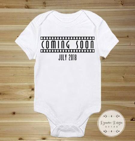 Coming Soon Onesie, Pregnancy Announcement Onesie, Pregnancy Reveal to Husband, Pregnancy Reveal Onesie, Surprise Baby Onesie, Custom Onesie