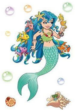 Lana the Mermaid Wall Decals. Great Wall decor for a mermaid themed girls bedroom.