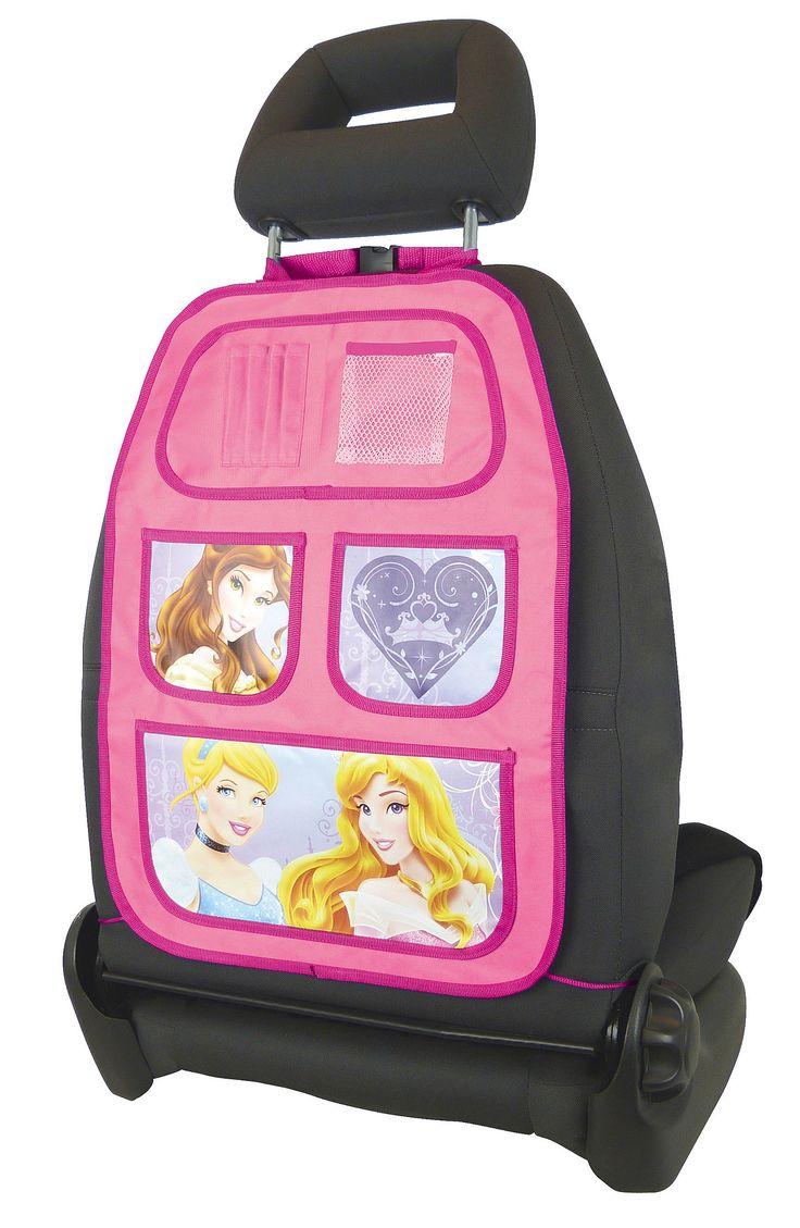 Disney Princess Auto Organiser  Description: Heb jij ook genoeg van rondslingerend speelgoed in de auto? De roze Princess organiser is dan een geweldigeoplossing.Door het handige vakkensysteem is er ruimte voor bv. kleurboeken; knuffels of een spelcomputer. Hiermee kun je; je kind bezig houden tijdens een lange autorit naar je vakantiebestemming. Deze Disney auto speelgoedtas isgemakkelijk te bevestigen aan de autostoel en houdt de auto netjes opgeruimd.  Price: 12.99  Meer informatie