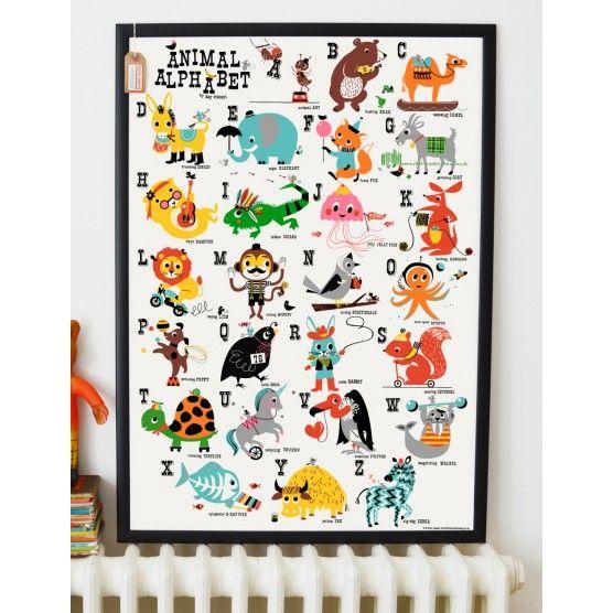 Animal Alphabet Children's Nursery Print  from Rose & Grey