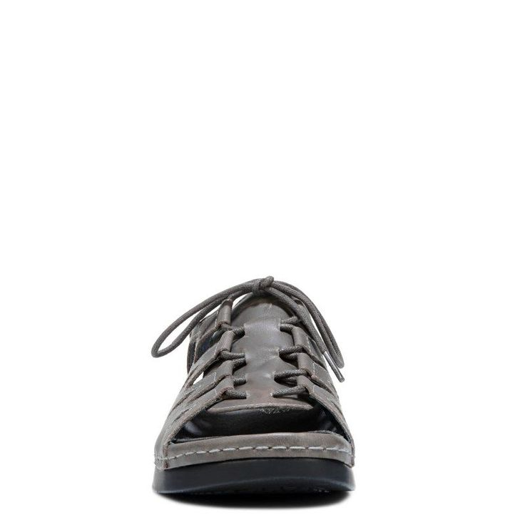 Propet Women's Ghilliewalker Medium/Wide/X-Wide Lace Up Sandals (Grey Leather) - 10.0 2E
