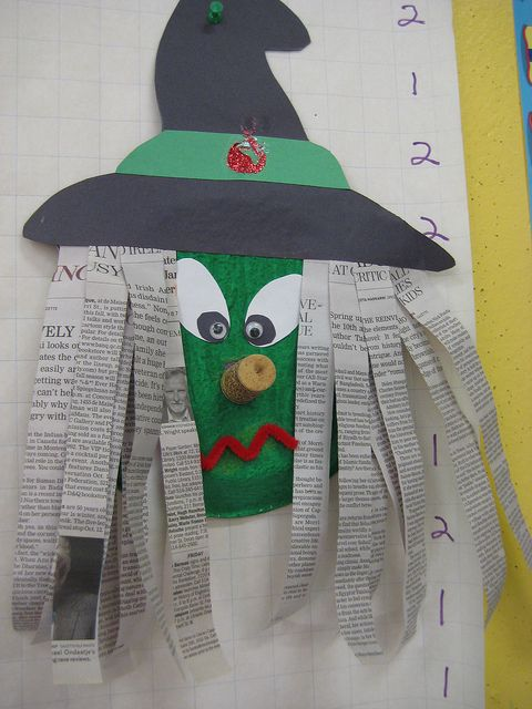 Paper plate witch craft for Kindergarten.