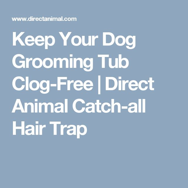 Keep Your Dog Grooming Tub Clog-Free | Direct Animal Catch-all Hair Trap