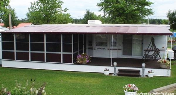 Porch designs for mobile homes screened porches porch for Screened in porch ideas for mobile homes