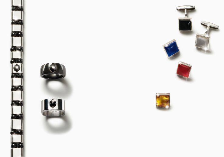 Charlotte21 for men- interchangeable cufflinks, bracelet and rings.