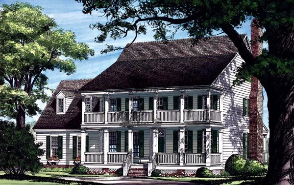 Colonial farmhouse southern house plan 86217 for Farmhouse colonial house plans
