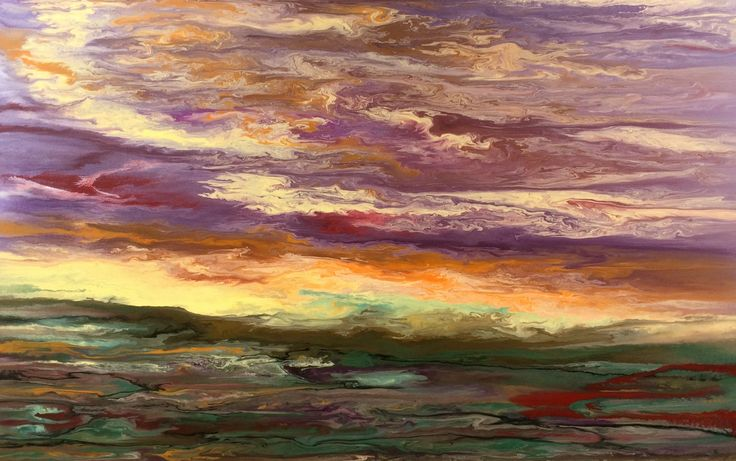 Contemporary abstract seascape landscape paintings