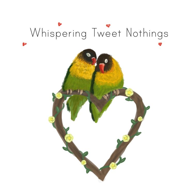 Lovebirds Greetings Card Design