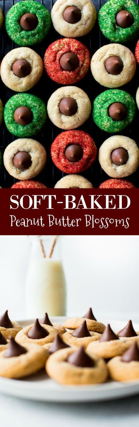 Classic, soft-baked, and absolutely irresistible EASY peanut butter blossoms! Cookie recipe on sallysbakingaddiction.com
