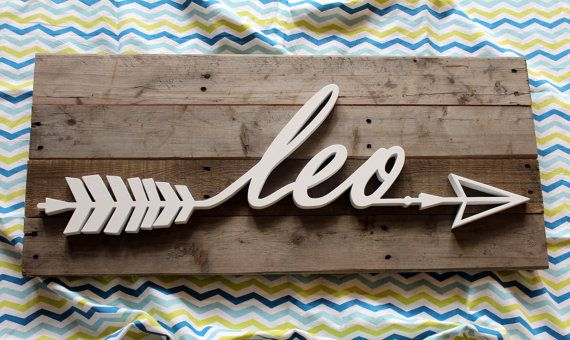 Leo Wooden Name Sign Wooden Nursery Decor By