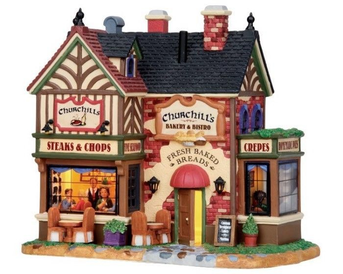 Lemax Village Collection Churchill's Bakery and Bistro # 15223