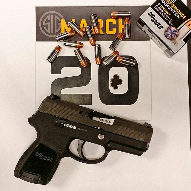 """""""It's 3/20! Here's how we celebrate March 20. P320 Subcompact in 9mm with 13 round capacity. Heck ya. #320 #P320 #9mm"""""""