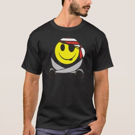 Smiley Pirate 01 T-Shirt - click/tap to personalize and buy