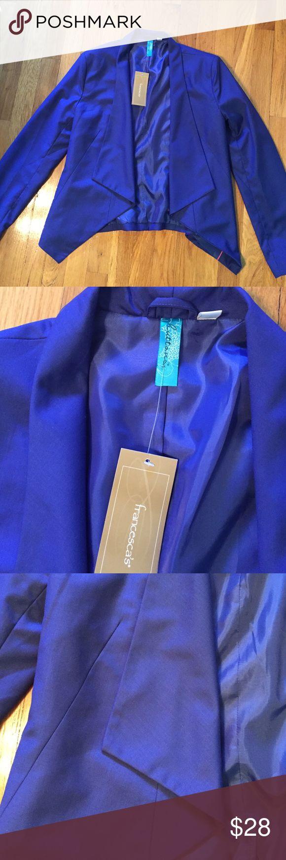 Francesca's classic royal blue blazer! Brand new royal blue blazer from Francesca's! Tickets still on it never worn! Francesca's Collections Jackets & Coats Blazers