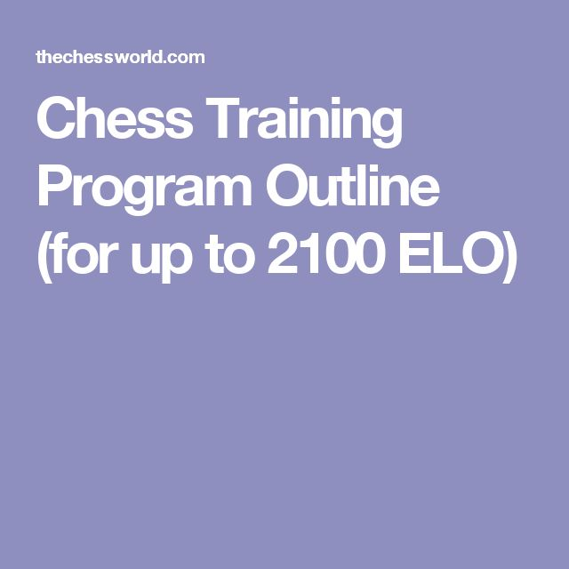 Chess Training Program Outline (for up to 2100 ELO)