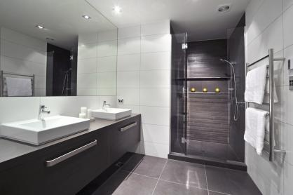 Bec George Challenge 2 Floors Feature Wall Stratos Dark Grey