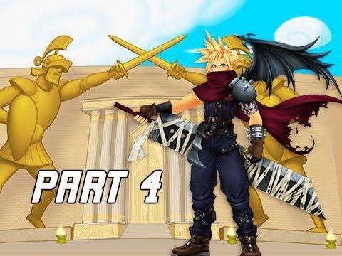 Kingdom Hearts 1.5 Walkthrough Part 4 - Cloud & Coliseum (PS4 Let's Play)