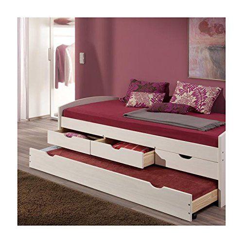 Kojenbett Funktionsbett Schubladenbett JULIA Kiefer massiv weiß lackiert Liegefläche 90 x 200 cm (B x L): Amazon.de: Küche & Haushalt