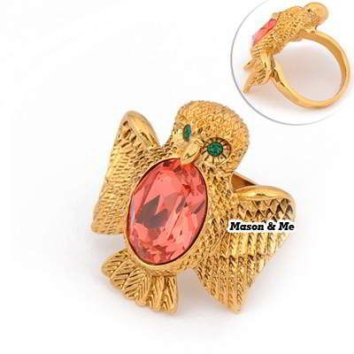 (Can Choose Size 17# 18# 19#)HOT Korean Vintage Fashion OWL Decorated With CZ Diamond Charm Design Ring (Gold) General. Small and catchy. REPIN if you like it.😍 Only 145 IDR