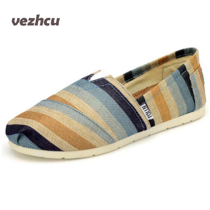 VZEHCU Summer Fashion Men Canvas Shoes espadrilles Men Casual Shoes Slip on Breathable Men Flats Shoe Zapatos Hombre cd28 #Affiliate