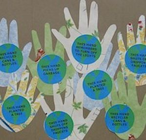 Earth Day Handprints Eco Friendly Craft For Kids Green