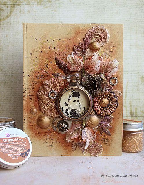 Riikka Kovasin - Paperiliitin: Antique Brilliance book - Craft Stamper