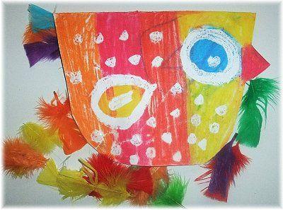 Tvoříme s dětmi ptáčky - tupování, koláž, vymývaná klovatina
