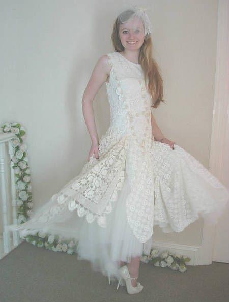 filet crochet wedding dress 12 Crochet Wedding Dresses for Those Summer Weddings