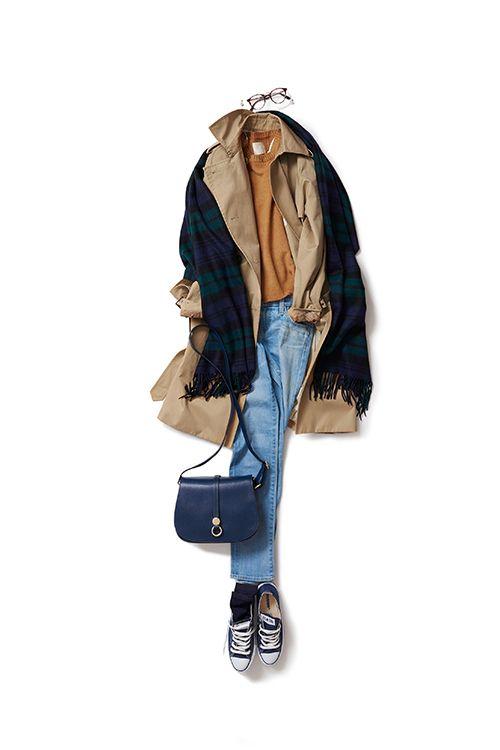 コーディネート詳細(ヴィンテージなムードで着たいトレンチスタイル)| Kyoko Kikuchi's Closet|菊池京子のクローゼット