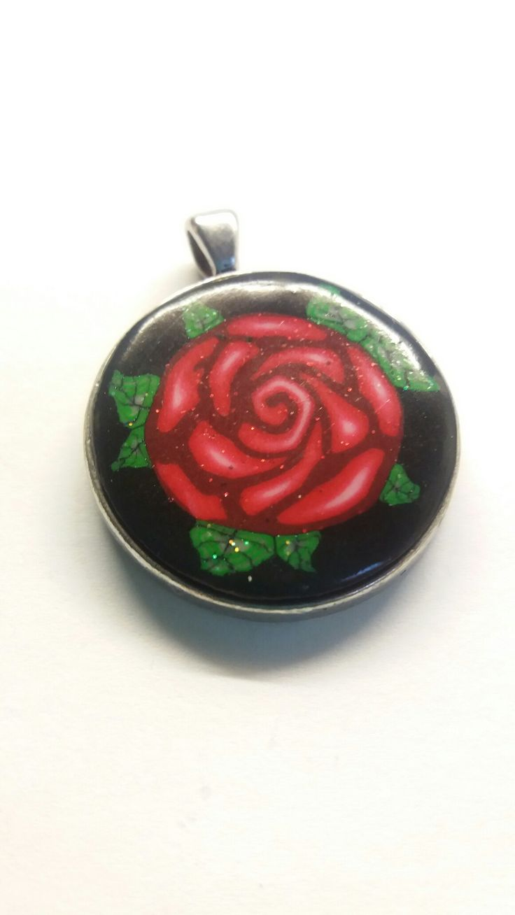 Rosenmuster aus Fimo