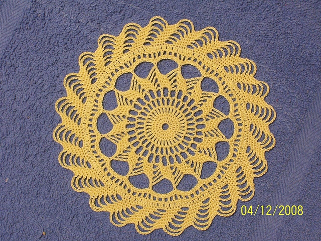 Free Pattern Crochet Pineapple Doily Doily Pinterest Free