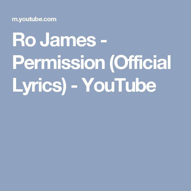 Ro James - Permission (Official Lyrics) - YouTube