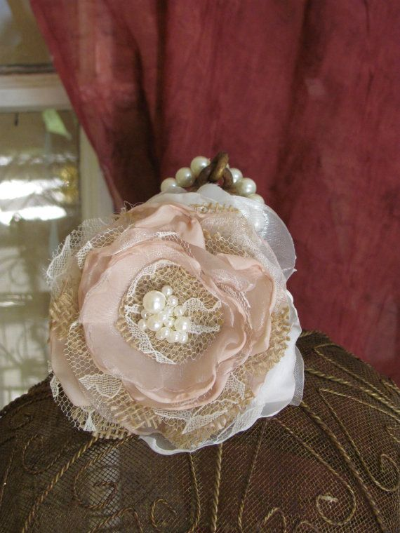 Hey, I found this really awesome Etsy listing at https://www.etsy.com/listing/184340262/alterntive-burlap-wrist-corsage-pearl